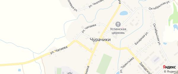 Ленина 1-й переулок на карте села Чурачики с номерами домов