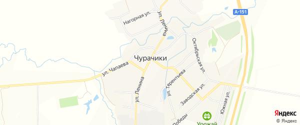 Карта села Чурачики в Чувашии с улицами и номерами домов