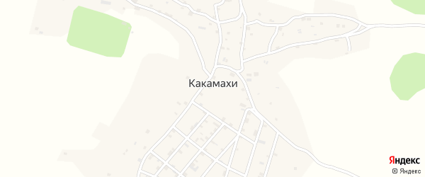 Октябрьская улица на карте села Какамахи с номерами домов