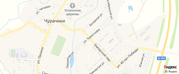 Улица И.Терентьева на карте села Чурачики Чувашии с номерами домов