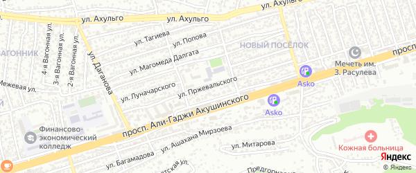 Улица Пржевальского на карте Махачкалы с номерами домов