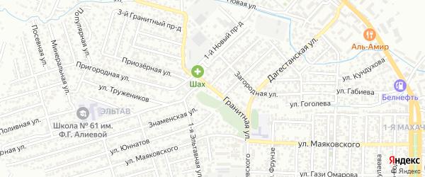 Улица Невского на карте Махачкалы с номерами домов