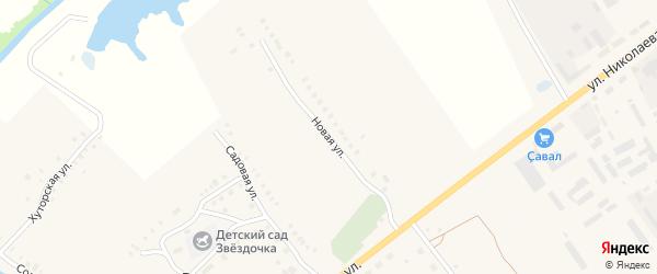 Новая улица на карте села Рындино с номерами домов