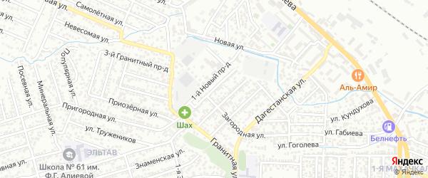 Улица Дежнева на карте Махачкалы с номерами домов