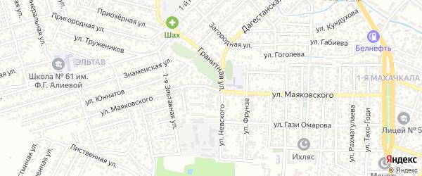 Улица Маяковского на карте Махачкалы с номерами домов