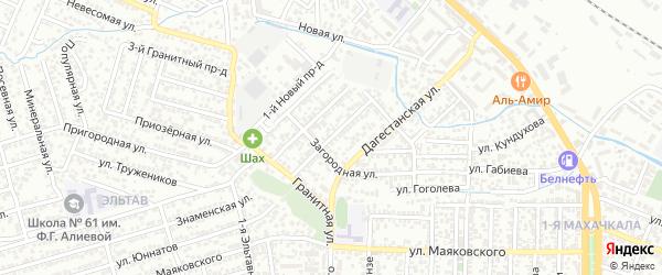 Промышленная улица на карте Махачкалы с номерами домов