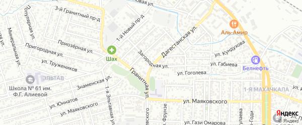Загородная улица на карте поселка Ленинкента с номерами домов