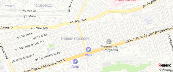 Акушинского 18-я линия на карте Махачкалы с номерами домов