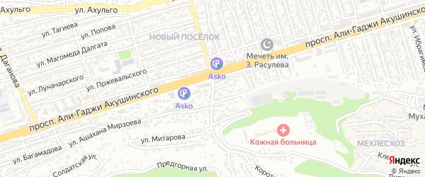 Акушинского 19-я линия на карте Махачкалы с номерами домов