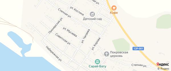 Улица Чапаева на карте Селитренного села с номерами домов