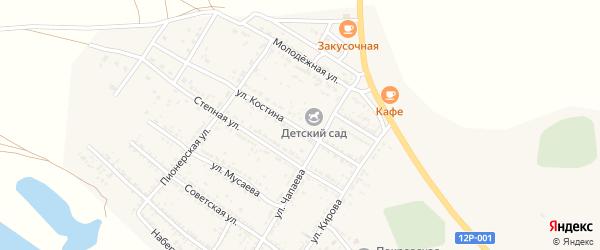 Улица Костина на карте Селитренного села с номерами домов