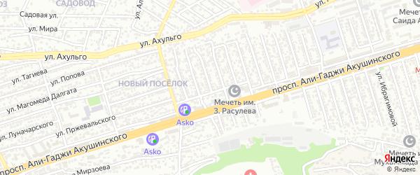Улица Акушинского 16-я линия на карте Махачкалы с номерами домов