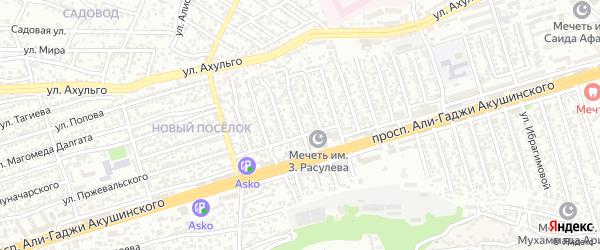 Улица Акушинского 15-я линия на карте Махачкалы с номерами домов