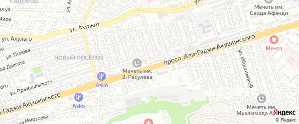 Улица Героев Дагестана на карте Махачкалы с номерами домов