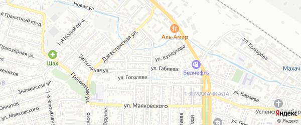 Улица Габиева на карте Махачкалы с номерами домов