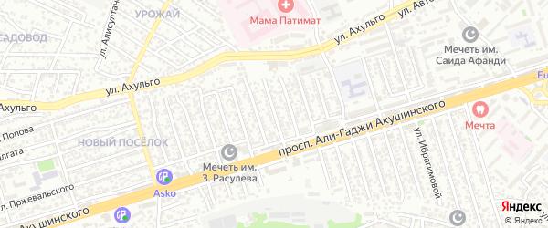 Акушинского 11-я линия на карте Махачкалы с номерами домов