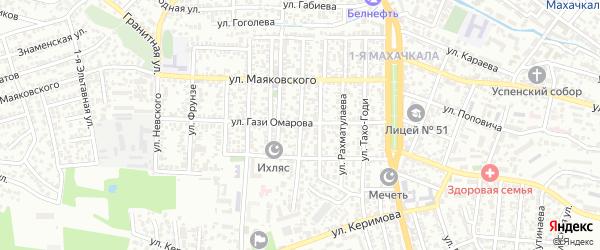 Улица Джамала Далгата на карте Махачкалы с номерами домов