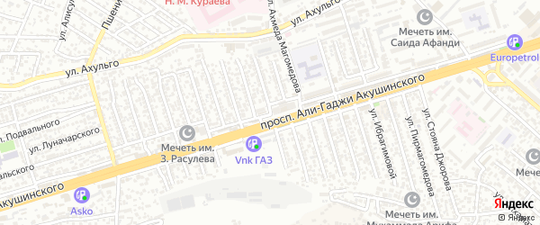 Улица Акушинского 9-я линия на карте Махачкалы с номерами домов