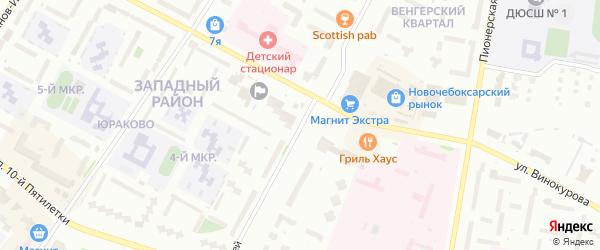 Улица Строителей на карте Новочебоксарска с номерами домов
