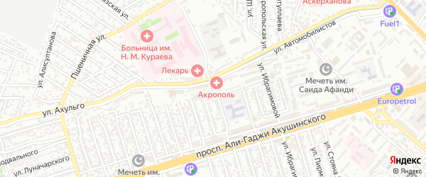 Улица Ахмеда Магомедова на карте Махачкалы с номерами домов