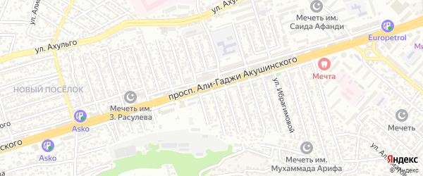 Улица Акушинского 8-я линия на карте Махачкалы с номерами домов