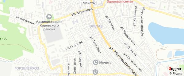 Улица Тахо-Годи на карте Махачкалы с номерами домов