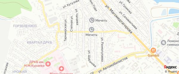Улица Шабанова на карте Махачкалы с номерами домов