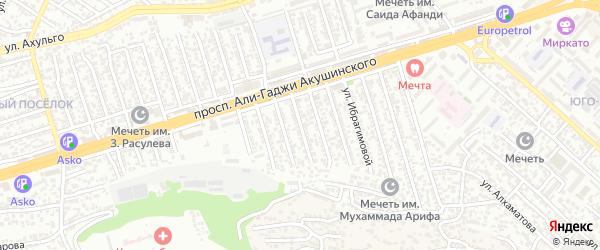 Улица Акушинского 6-я линия на карте Махачкалы с номерами домов