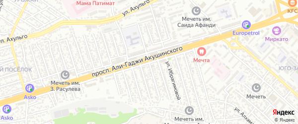 Улица Акушинского 5-я линия на карте Махачкалы с номерами домов