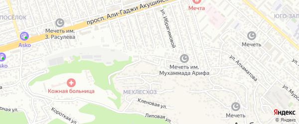 Мирзаева 2-й проезд на карте Махачкалы с номерами домов