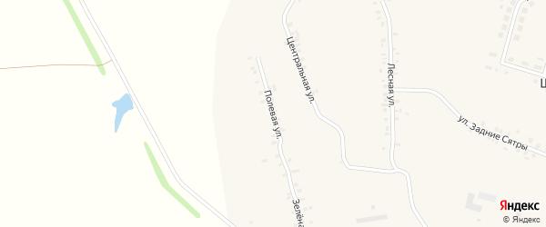 Полевая улица на карте деревни Шорчекасы Чувашии с номерами домов