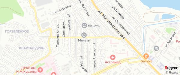 Улица Магомед-Али Алиева на карте Махачкалы с номерами домов