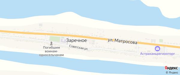Советская улица на карте Заречного села Астраханской области с номерами домов