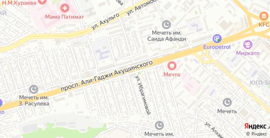 А.Акушинского пр-кт 3-я линия в Махачкале с номерами домов на карте. Спутник и схема онлайн