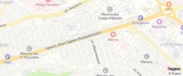 Улица Ибрагимовой на карте Махачкалы с номерами домов