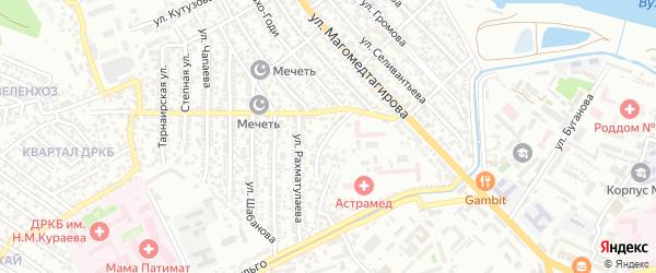 Али Алиева 1-й тупик на карте Махачкалы с номерами домов
