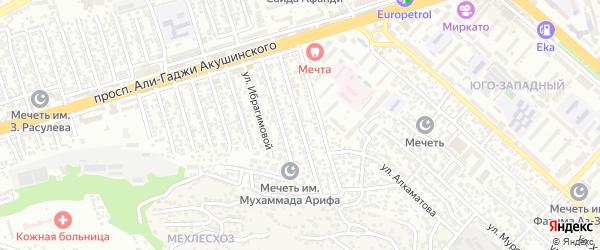 Улица Пирмагомедова на карте Махачкалы с номерами домов