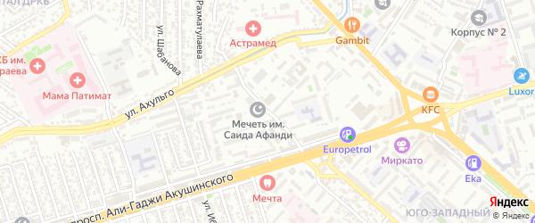 Радужная улица на карте Махачкалы с номерами домов