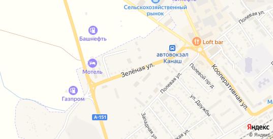 Зеленая улица в Канаше с номерами домов на карте. Спутник и схема онлайн