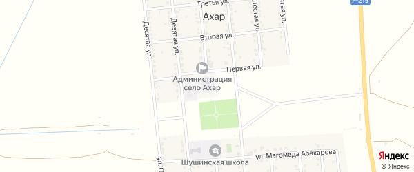 6-я улица на карте села Ахар Дагестана с номерами домов