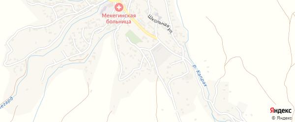Южная улица на карте села Мекеги Дагестана с номерами домов