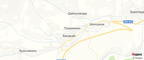 Карта села Пурримахи в Дагестане с улицами и номерами домов