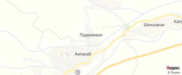 Улица Махдиева Ибрагима Махдиевича на карте села Пурримахи Дагестана с номерами домов