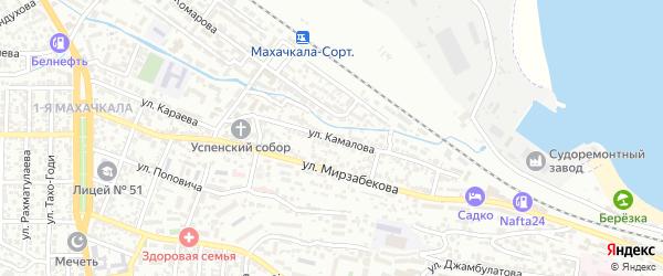 Улица Камалова на карте Махачкалы с номерами домов