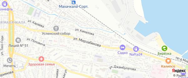 Улица Котовского на карте Махачкалы с номерами домов