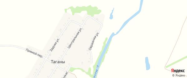 Овражная улица на карте деревни Таганы с номерами домов