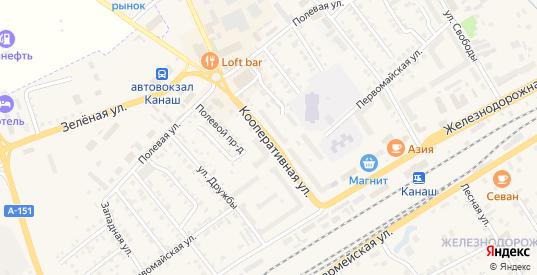 Кооперативная улица в Канаше с номерами домов на карте. Спутник и схема онлайн