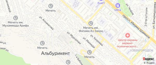 Улица Махмуда на карте поселка Альбурикента с номерами домов