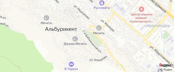 Лесная улица на карте поселка Альбурикента с номерами домов