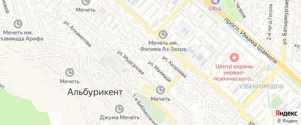 Агрономическая улица на карте поселка Альбурикента с номерами домов